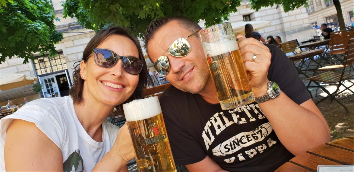 coppia con birra tedesca
